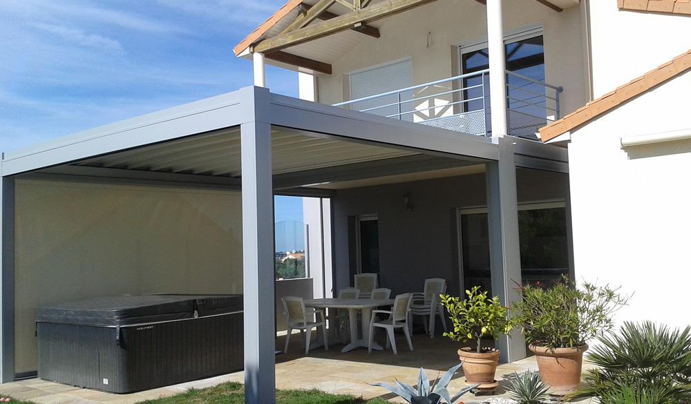 pergolas-bio-terrasse-blanc Pergolas - Ozea ouverture
