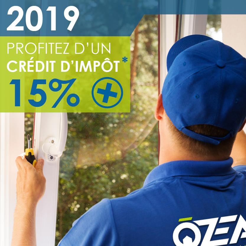 Ozea credit impots 2019