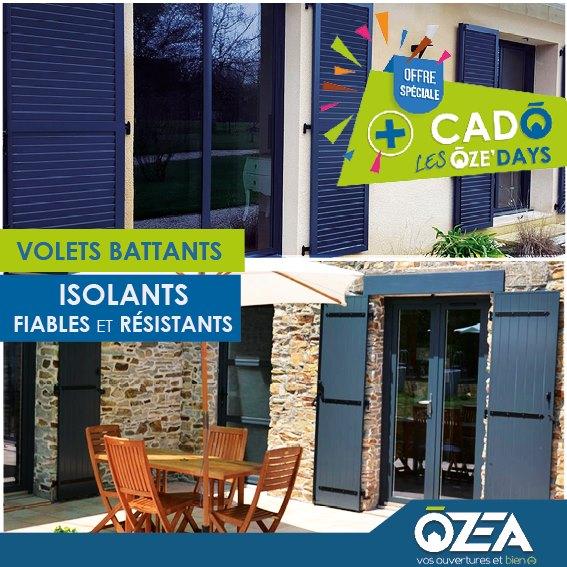 Volets battants isolants et resistants OZEA