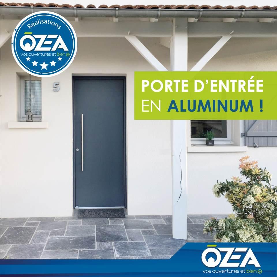 Porte dentrée en aluminium