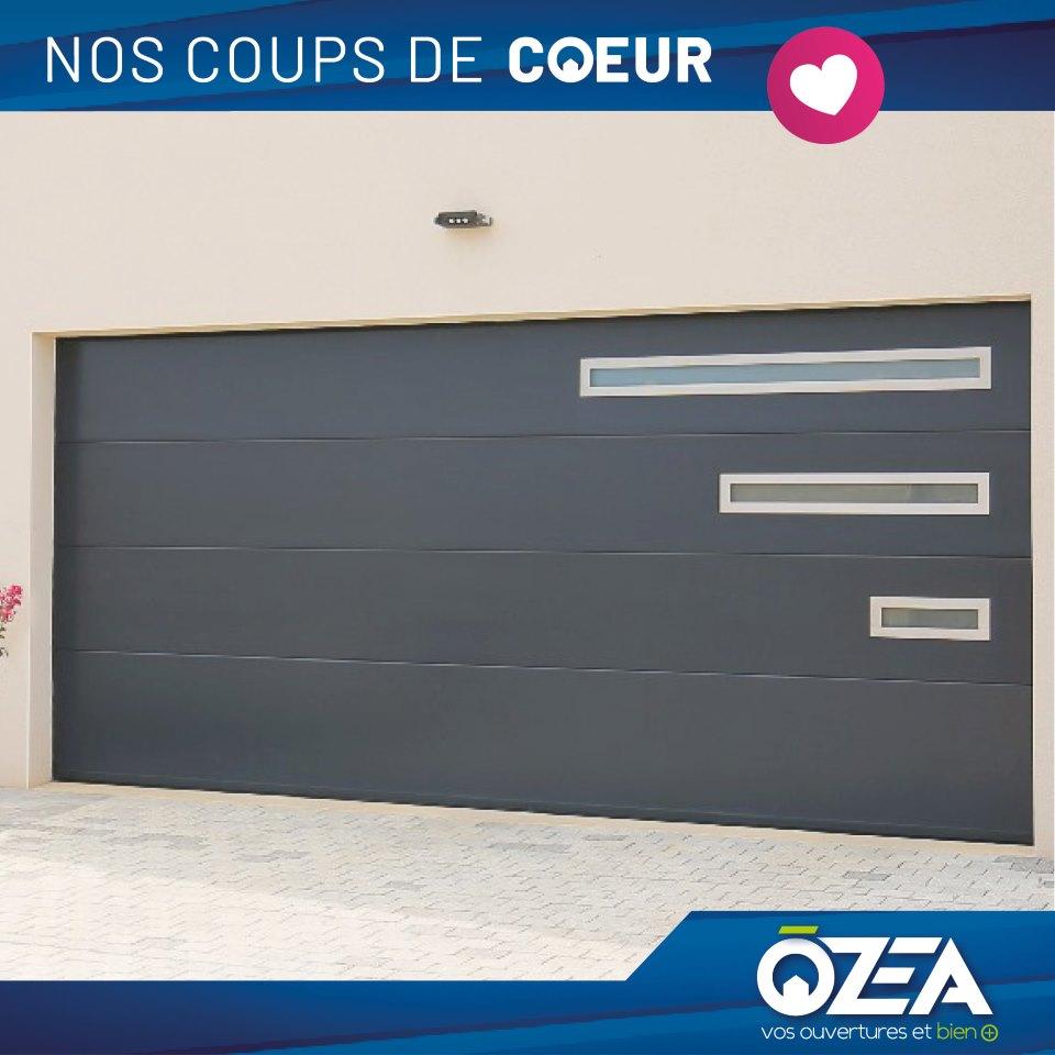 OZEA Coups de coeur porte de garage sectionnelle a renforcement de plafond