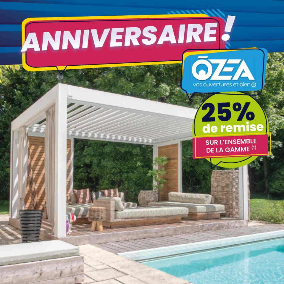 OZEA Anniversaire remise sur toute la gamme