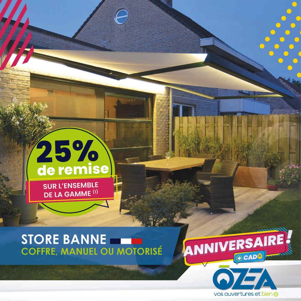 OZEA remise sur toute la gamme Store banne